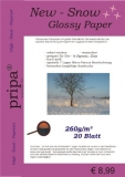 20 Blatt Fotopapier NEW SNOW