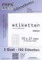 Preview: Etiketten 70x37mm wetterfest