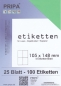 Mobile Preview: 25 Blatt Etiketten (DIN A4) 105 x 148 mm = 100 Etiketten